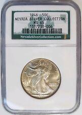 1946 Walking Liberty Half Dollar NGC MS 65 Nevada Silver Collection Coin Hoard