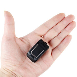 LONG-CZ J9 Mini Flip Phone 0.66 Bluetooth Dialer Smallest Mobile Phone For Kids