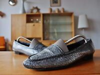 Carriere Damen Halbschuh Slipper Textil Schuhe Gr 39,5 UK 6,5 True Vintage