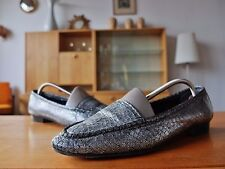 Carriere da Donna Scarpa Mezza Slipper Scarpe Tessile Tg 39,5 UK 6,5 True Vintage