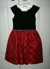 Girl's Black and Red Holiday Dress - Size 7