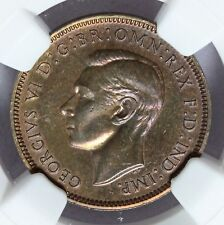 1937 Great Britain 1/4 Penny Farthing Proof Coin - NGC PF 65 BN - KM# 843