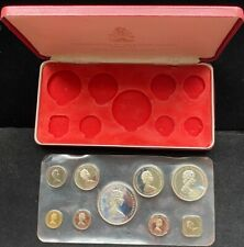 1972 9 Pc Bahamas Proof Set Silver 50C $1 $2 $5 Perfect Sealed With Box & Papers