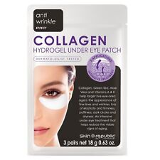 Skin Republic 3 x Collagen Hydrogel Under Eye Mask Patches - Reduces Wrinkles