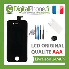 ECRAN LCD+VITRE TACTILE SUR CHASSIS+BOUTON HOME+OUTILS+FILM IPHONE 4/4S