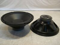 """NEW (2) 12"""" Subwoofers Replacement Speakers.4 ohm.twelve inch Woofer pair.Audio"""