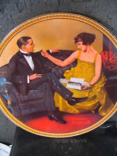 Rockwell 1983 Flirting In The Parlor Rediscovered Women Ltd Ed Plate Mib
