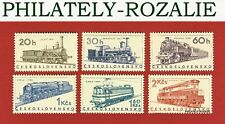 CZECHOSLOVAKIA SET STAMPS MNH ** 1966 Mi 1603/1608  LOCOMOTIVES