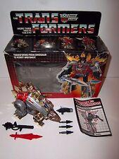Vintage 1985 Transformers G1 Dinobot **SNARL** C9+ MIB 100% Complete w/ Box