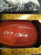 Coach Don Shula Autograph Football NFL Most Wins 347 Miami Dolphins Rare!!! 347