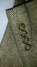 NEW 38R Men's Birdseye Tweed Irish-Green WOOL Blazer Sport Coat Jacket donegal