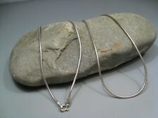 "Sterling Silver 925 SNAKE Chain Necklace 20"" 1mm 5.5g.  #16"