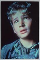 Mark Lester Signed 12x8 Photo Autograph Signature Oliver Film AFTAL & COA
