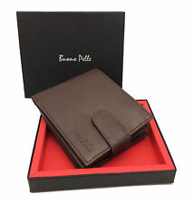 11733191fd11 RFID SAFE MENS DESIGNER REAL LEATHER WALLET With LARGE Zip Coin Pocket    Pouch