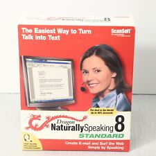 NEW! ScanSoft Dragon TALK to TEXT Software NATURALLY SPEAKING 8 STD w/ Headset