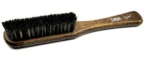 LARGE SOFT FADE BRUSH SKIN FADE, BLADE, COMB AND SCISSORS CLEANING WOODEN HANDLE