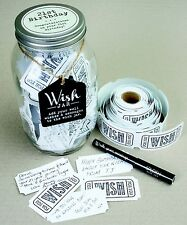 Splosh Glass Wish Jar 21st Birthday Party Guest Wishes & Pen Celebrate Gift Set