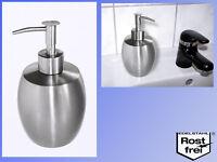 Design Edelstahl Seifenspender (veredelt), 380ml Pumpflasche für Flüssig seife
