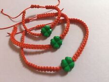 Bracelets Set Of 3 Clover For Mom  Dad  And Baby  Red Protection Evil Eye