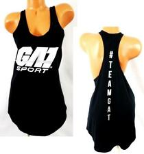 Pitbull Clothing Co. black white Gat sport sleeveless stretch active top Xxl