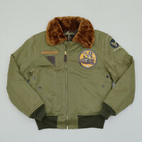BOB DONG USAAF B-15A Flight Jacket Vintage US Army Men's Bomber Flying Coat B-15