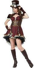 Women's Steampunk Girl Adult Costume Size Medium 8-10