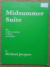 Midsummer Suite - Michael Jacques: Recorder / Flute & Piano 4 Pieces (inc part)
