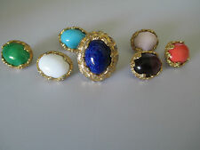 Jomaz Ring with 7 Interchangeable  Cabochons, Signed