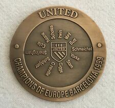 MANCHESTER UNITED CHAMPIONS OF EUROPE 1999  BRONZE COIN