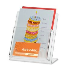 """5"""" x 7"""" Greeting Card Display with a Business Card Holder/Gift Card Holder"""
