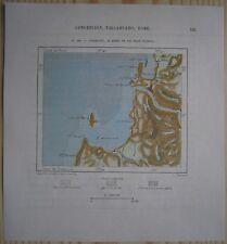 1893 Perron map CONCEPCION & BIO-BIO RIVER, CHILE (#149)