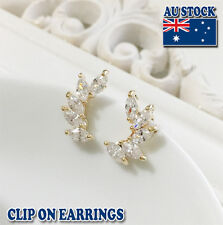 18ct Gold Plated Clip on Earrings With Swarovski Crystals