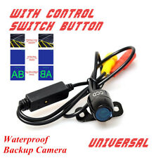 Universal Car Backup Camera Button Control Front/Rear NTSC/PAL Guide Line ON/OFF