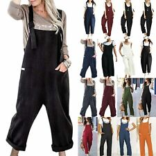 Women Jumpsuit Overalls Loose Baggy Dungarees Playsuit Long Harem Pants Trousers