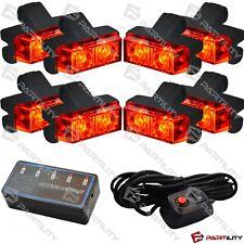 16 LED Red Light Grill Emegency Utility Warning Strobe Flash Hazard