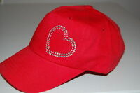 Rhinestone Heart Cap (Low Profile & Cadet Caps)