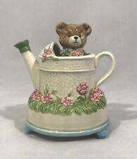 Vintage Otagiri Music Box Bear Turns In Gardening Watering