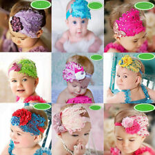 Feather Flower Kids Baby Infant Girl Headband Headwear Hair Bow Accessories Band