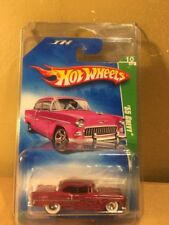 Hot Wheels Super Treasure Hunt 2009 '55 Chevy Pink Real Riders RR