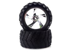 Redcat Racing Chrome Wheels and Tires for Volcano-18 Monster Truck RC 28663V