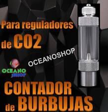 CONTADOR DE BURBUJAS CO2 PARA REGULADOR DE FLUJO ACUARIO PLANTAS PLANTADO CUENTA