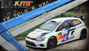 Belkits VW Polo R WRC Rally Latvala Mikkelsen Ogier 1: 24 Kit Art BEL005