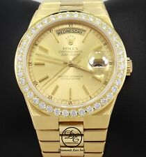 Rolex President Day-Date 19018 18K Yellow Gold 2.5C Diamond Bezel Oyster Quartz