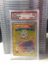 2003 AQUAPOLIS 114 Togepi Reverse Holo PSA 9 MINT Pokemon