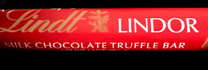 (8) Count Lot Of Lindt Lindor Milk Chocolate Truffle Bars 1.3 Oz Each