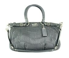 COACH MINT Gray Gathered Leather Madison Sophia Satchel #18620