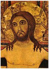 Byzantine Crucifix Detail, Church Of Santa Chiara, Assisi, Italy, Art Postcard