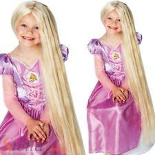 Girls Glow In The Dark 80cm Rapunzel Wig Tangled Disney Princess Fancy Dress