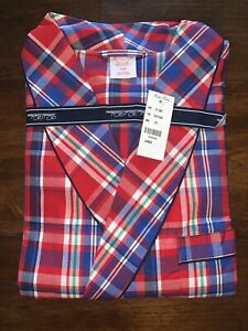 Brooks Brothers Red/ Blue Check Dressing Gown/ Robe LARGE RRP £115 100% Cotton