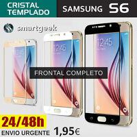 PROTECTOR PANTALLA CRISTAL TEMPLADO para SAMSUNG Galaxy S6 de FRONTAL COMPLETO